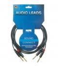 Kabel stereo KLOTZ Keyboard 2x2 Jack KMPP0600 Amphenol 6m