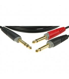 Kabel Insert KLOTZ 1 x Jack stereo / 2 x Jack mono AY1-0600 3m