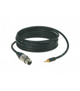Kabel Mic unbalanced KLOTZ 1 x mały Jack stereo / XLR AUXMF0150 1,5m