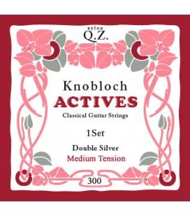Struny do gitary klasycznej Knobloch 300 Double Silver Q.Z. Medium
