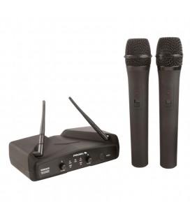 Proel WM202DM system bezprzewodowy z 2 mikrofonami doręcznymi