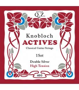 Struny do gitary klasycznej Knobloch 400 Double Silver Q.Z. High Tension