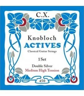 Struny do gitary klasycznej Knobloch 450 Double Silver C.X. Medium High Tension