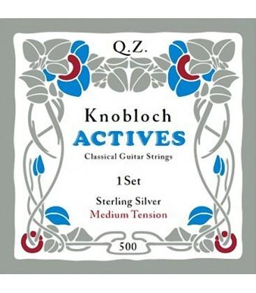 Struny do gitary klasycznej Knobloch 500 Double Silver Q.Z. Medium Tension