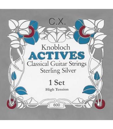 Struny do gitary klasycznej Knobloch 600 Sterling Silver C.X. High Tension
