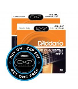 Struny do gitary akustycznej D'Addario EXP10 10-47