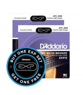 PROMOCJA. Struny do gitary akustycznej D'Addario EXP13 11-52