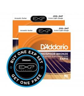 PROMOCJA. Struny do gitary akustycznej D'Addario EXP15 10-47