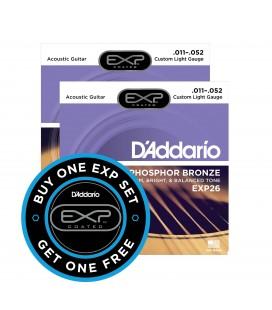 PROMOCJA. Struny do gitary akustycznej D'Addario EXP26 11-52