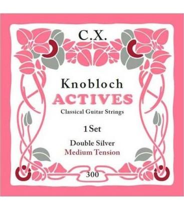 Struny do gitary klasycznej Knobloch 300 Double Silver C.X. Medium Tension