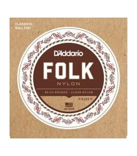 DADDARIO FOLK EJ33 - struny do gitary klasycznej