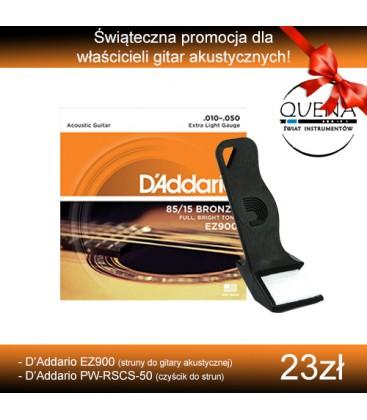 Zestaw: D'Addario struny EZ900 i czyścik do strun PW-RSCS-50