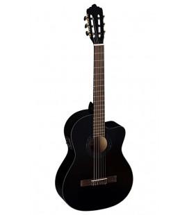 Gitara elektro klasyczna La Mancha Rubinito Negro CM-CEN