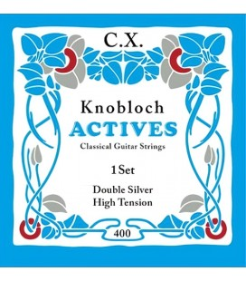 Struny do gitary klasycznej Knobloch 400 Double Silver C.X. High Tension