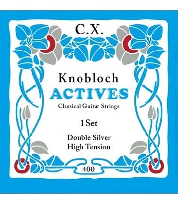 Struny do gitary klasycznej Knobloch 400 Double Silver C.X. High Tension