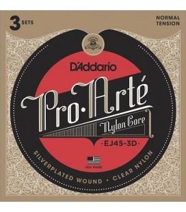 D'Addario EJ45-3D 3 komplety - struny do gitary klasycznej