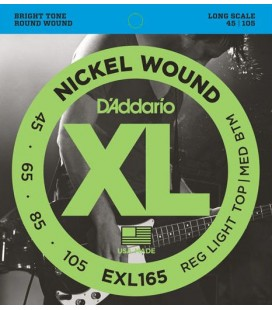 Struny do gitary basowej D'Addario EXL165
