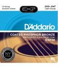 D'Addario EXP38 - struny do gitary akustycznej 12-strunowej