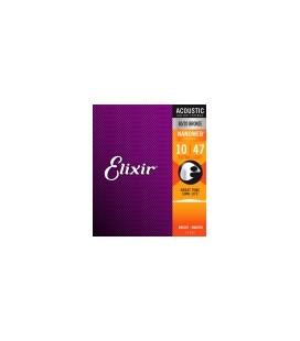 Elixir 11002 - struny do gitary akustycznej Nanoweb 10-47
