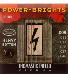 Struny do gitary elektrycznej Thomastik Power Brights Light Heavy Bottom RP109