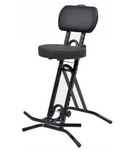 Taboret - stołek - krzesło metalowe z oparciem dla muzyka LIBEDOR TG
