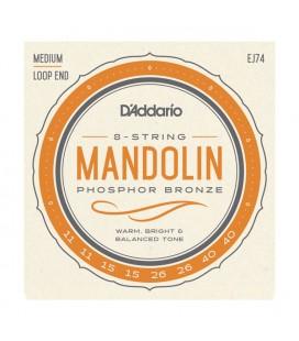 Struny D'Addario Phosphor Bronze EJ74 do mandoliny